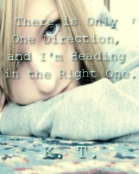 There is Only One Direction, and I'm Heading in the Right One.