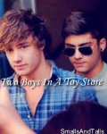 Two Boys In A Toy Store