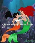 Ariel and melody return to the sea