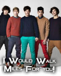 I Would Walk Miles For You. [1D]