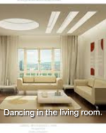 Dancing in the living room.