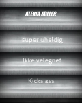 Alexia Miller - kind of a diary?