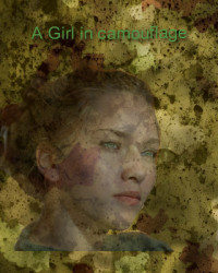 A girl in camouflage