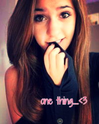 One thing>.<