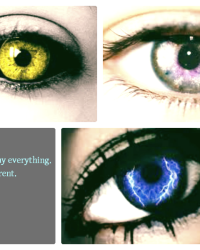 Our eye's say everything, we're different.