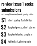 re:view issue 1 seeks submissions