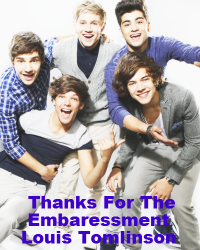 Thanks For Embarresment Louis Tomilson.(One direction fan fiction)