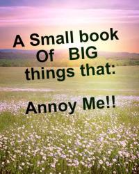A Small Book of BIG things That: Annoy me!