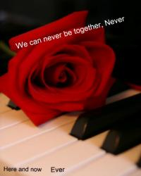 we can never be together. Never
