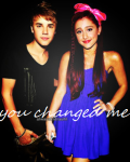You changed me. - Justin Bieber
