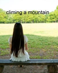 climing a mountain