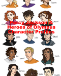Percy Jackson and Heroes of Olympus character profiles
