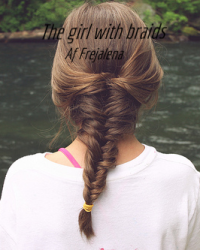 The girl with braids