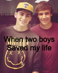 When two boys saved my life.