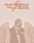 an angel who forgot how to fly