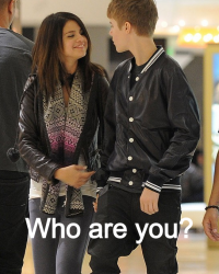 Who are you? Justin Bieber