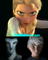 The Daughter of Pitch Black || ROTG and Frozen Crossover [Complete]