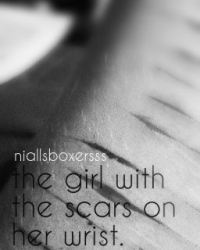 the girl with the scars on her wrist