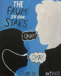 My Alternative TFIOS Poster (hand painted)