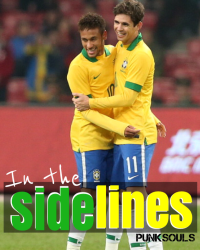 In the sidelines (neymar & oscar)