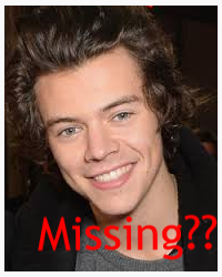MISSING...WHAT HAPPEND TO Harry Edward Styles???