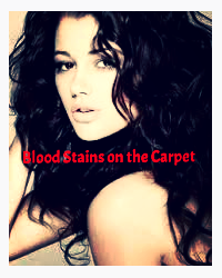 Blood stains on the carpet