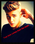 true love comes from the heart  (justin bieber story)