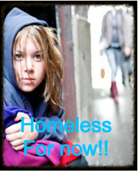 Homeless for now!!