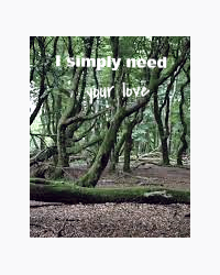 I simply need your love.