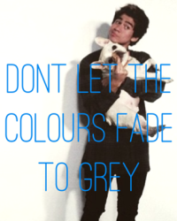 dont let the colours fade to grey