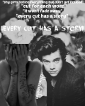 ||every cut has a story||   H.S
