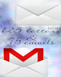 125 letters & 75 emails