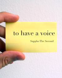 To Have A Voice