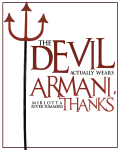 The Devil Actually Wears Armani, Thanks