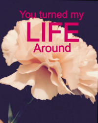 You turned my life around