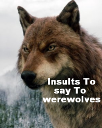 Insults to say to werewolves.