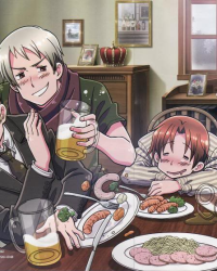 7 minutes in Heaven Hetalia version.