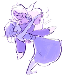 Amethyst and Lapis - Playing with water