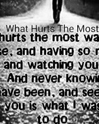 What Hurts The Most