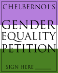 Gender Equality | Petition