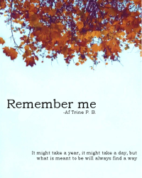 Remember me | One Direction