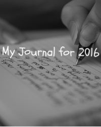 My Journal for 2016