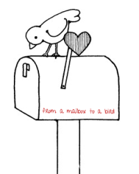 from a mailbox to a bird