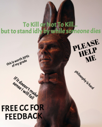 To Kill or Not to Kill.... But to Stand Idly By While One Dies