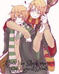 Love like Black magic~ A Hetalia X Harry potter UsUk Fanfiction