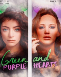 Green and Purple Hearts
