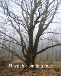 A witch's smiling face