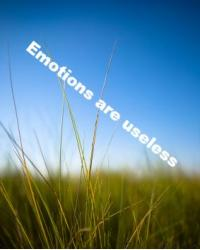Emotions are useless