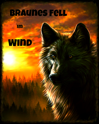 Braunes Fell im Wind