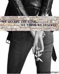 """We accept the love, we think we deserve"""